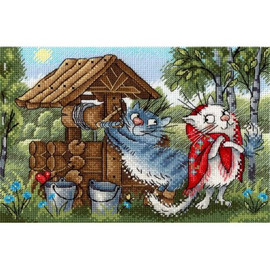 Date At The Well Cross Stitch Kit By MP Studia