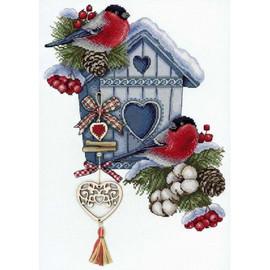 Frosty Nest Cross Stitch Kit By MP Studia