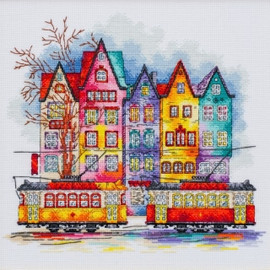 Colours of the Old City Counted Cross Stitch Kit By VDV