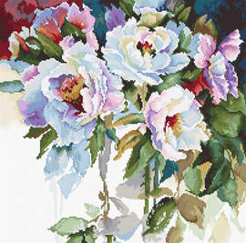 White Roses Counted Cross Stitch Kit By Luca-S