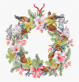 December Wreath Counted Cross Stitch Kit By Luca-S