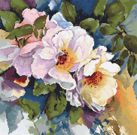 Roses Counted Cross Stitch Kit By Luca-S