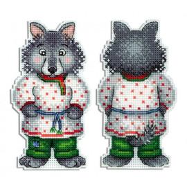 Grey Wolf Cross Stitch Kit On Plastic Canvas By MP Studia