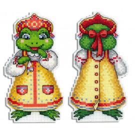 Frog Cross Stitch Kit On Plastic Canvas By MP Studia
