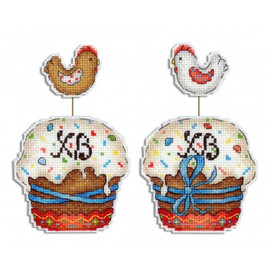 Easter Cake Cross Stitch Kit On Plastic Canvas By MP Studia