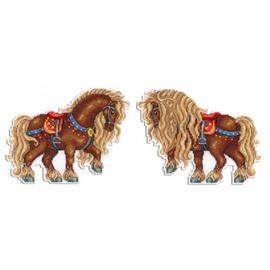 Horse Cross Stitch Kit On Plastic Canvas By MP Studia