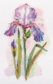 Watercolour Iris Counted Cross Stitch Kit by Panna