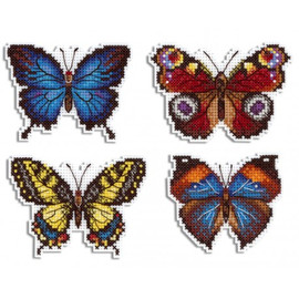 Bright Butterflies Magnet Kit On Plastic Canvas By MP Studia