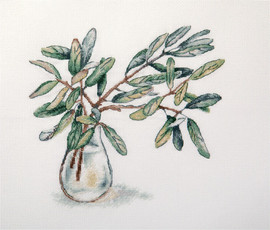 Olive Twigs Counted Cross Stitch Kit by Panna