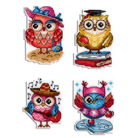Owl Stories Magnet Cross Stitch Kit On Plastic Canvas By MP Studia