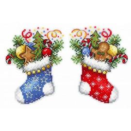 Christmas Stocking Cross Stitch Kit On Plastic Canvas By MP Studia