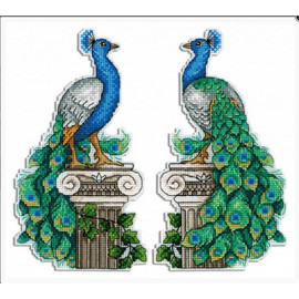 Royal Peacock Cross Stitch Kit On Plastic Canvas By MP Studia