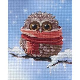 Winter Owl Printed Cross Stitch Kit By MP Studia