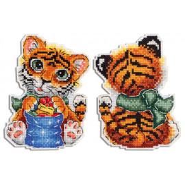 Tiger Cross Stitch Kit on Plastic Canvas By MP Studia