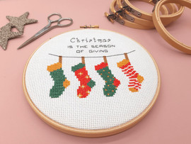 """Christmas Stockings 6"""" Cross Stitch Kit by Sew Sophie"""