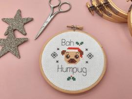 "Bah Humpug 4"" Christmas Cross Stitch Kit by Sew Sophie"