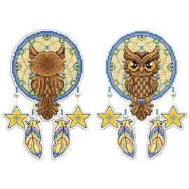 Owl Dreamcatcher Cross Stitch Kit On Plastic Canvas By MP Studia