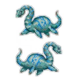 Dinosaur Cross Stitch Kit On Plastic Canvas By MP Studia