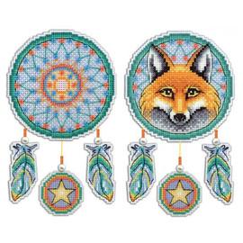 Dream Catcher Fox Cross Stitch Kit On Plastic Canvas By MP Studia