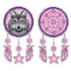 Wolf Dream Catcher Cross Stitch Kit On Plastic Canvas By MP Studia