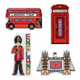 London Magnets Cross Stitch Kit By MP Studia