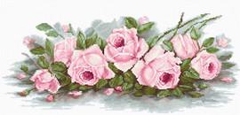Romantic Roses Cross Stitch Kit By Luca-S