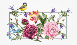 Spring Flowers - Aida Counted Cross Stitch Kit By Luca-S