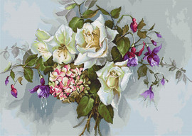 Bouquet with Roses Counted Cross Stitch Kit By Luca-S
