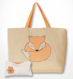 Fox Bag and Purse Set Counted Cross Stitch Kit By Luca-S