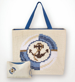 Blue Anchor Bag and Purse Set Counted Cross Stitch Kit By Luca-S