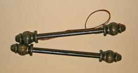 Wooden Bellpull ends 76mm
