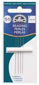 DMC Beading Needles Size 10-13 pack of 4