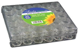 Clear Storage Box with 30 Jars