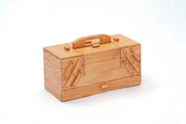 Light Wooden Flat Sewing Box