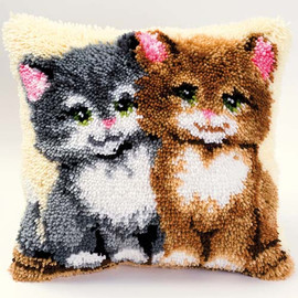 Two Kittens Latch Hook Kit