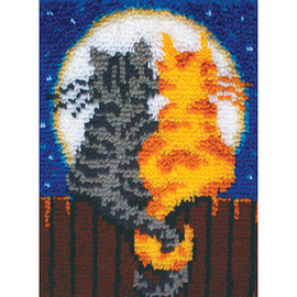 Moonlight Meow Latch Hook Rug