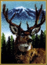 Deer Latch Hook Rug Kit