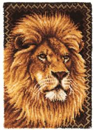 Lion Latch Hook Rug Kit