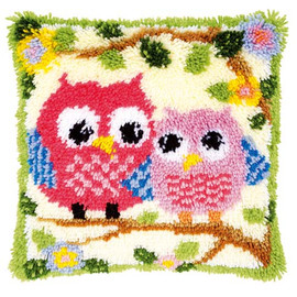 Owls on a Branch Latch Hook Rug Kit by Vervaco