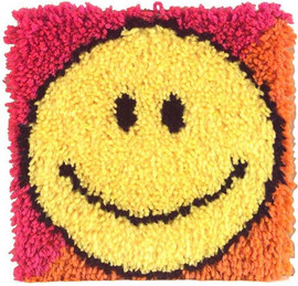 Smiley Face Latch Hook Rug by Caron