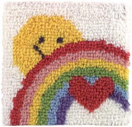 Sunshine Rainbow Latch Hook Rug Kit