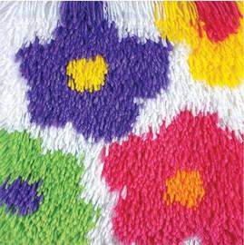 Shaggy - Flowers Latch Hook Rug by Caron