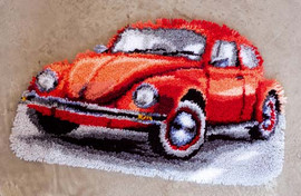 Red Beetle Latch Hook Rug Kit by Vervaco