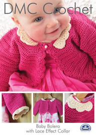 Baby Bolero With Lace Effect Collar Crochet Pattern Boolet