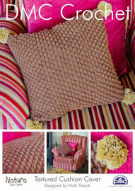 Textured Cushion Cover Crochet Pattern Booklet