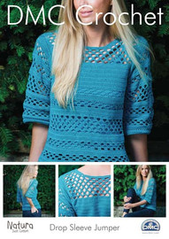 Drop Sleeve Jumper Crochet Pattern Booklet