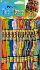 Prism Tie Dye 36 packs of threads with free Bracelet design