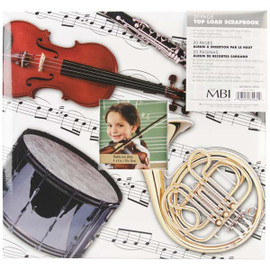 Musical Instruments Scrap Book Album with 20 Pages