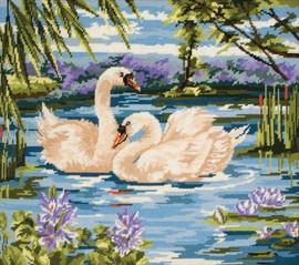 Swans Tapestry Kit