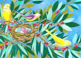 Lenid des oiseaux Tapestry Canvas